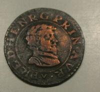 FREDERIC HENRI NASSAU prince ORANGE  (circula louisiane ) double tournois 1637