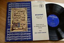 BRAHMS Sinfonie Nr. 4 SCHMIDT-ISSERSTEDT LP Pantheon XP 3160 ex/nm