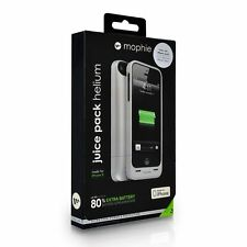 Mophie Juice Pack Helium Rechargeable Battery Case iPhone 5/5S/SE - Silver