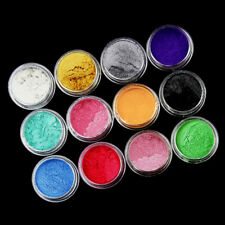 12 Color Set Mica Pigment Powder Perfect for Soap Cosmetics Resin Colorant Dye~