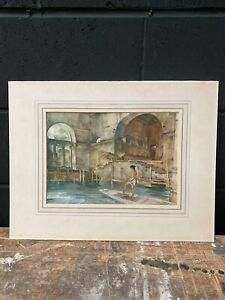 Sir William Russell Flint The Marchesa's Boathouse Print