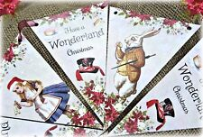 Alice in Wonderland 'Have a Wonderland Christmas' Bunting/Banner & Ribbon - 3m