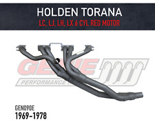 GENIE Headers / Extractors to suit Holden Torana LC, LJ, LH & LX RED Motor