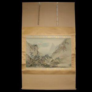 JAPANESE HANGING SCROLL KAKEJIKU 掛軸 ART | Landscape Painting by Yoshio #621