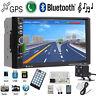 "7"" Double 2 Din Car MP3 Player Radio Stereo GPS SAT NAV AUX USB Bluetooth+Camera"