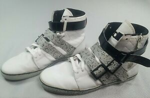 Radii FM1037 Straight Jacket White/Black/Red/Gray Strap Sneakers Size 10