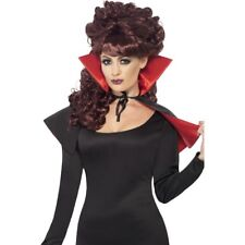 Mini Vampiress Cape Ladies Halloween Vampire Fancy Dress Cape