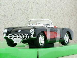 CHEVROLET Corvette - 1957 - black - WELLY 1:24