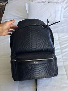 YSL Bag pack Python Black