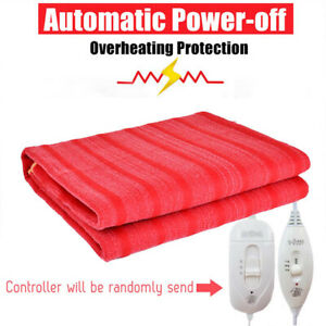 Blanket Electric Heated Warm Soft Flannel Home Bed Mat Winter Heater 60*28inch