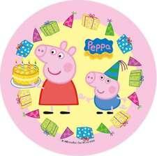 Tortenaufleger Peppa Pig Wutz rund ca.20cm Tortenbild Geburtstag Kuchen Torte 02