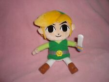 "2011 Nintendo The Legend of Zelda Phantom Hourglass LINK plush & Beans 7"" tall"