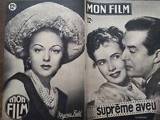 "MON FILM 1949 N 140 "" SUPRÊME AVEU "" avec RAY MILLAND et TERESA WRIGHT"