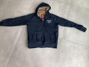 Sweatshirt Jacke Blau Gefüttert XL MCNeal