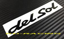 DelSol Del Sol Stickers Decals CR-X Civic EG EH EJ Esi Si Free Shipping x 1