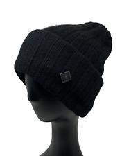 Authentic CHANEL Sports Coco Mark Cc Logo Knit Hat Beanie Cap Black RankAB