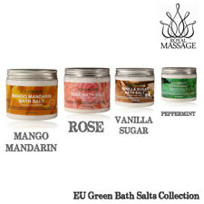 Natural Mineral Bath Sea Salts - Set Of 4 20oz Jars (Mint,Mango,Vanilla,Rose)