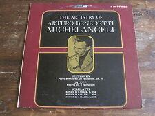 ARTURO BENEDETTI MICHELANGELI Beethoven Piano Sonatas Artistry LONDON CS 6446