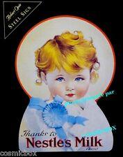 Plaque en métal Thanks to NESTLES s MILK publicité ancienne stick advertising