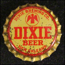 DIXIE GOLD RED MISSISSIPPI TAX CORK BEER BOTTLE CAP NEW ORLEANS, LOUISIANA CROWN