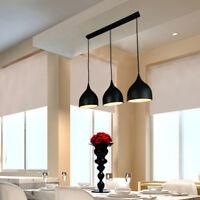 1 Set Modern Pendant Light Bar Ceiling Lights Kitchen Black Chandelier Lighting