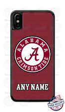 Alabama Crimson Tide Football with Name Phone Case Cover For iPhone Samsung etc