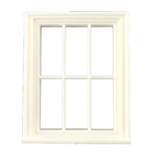 Dolls House White Plastic Georgian 6 Pane Window Half Inch 1:24 Scale