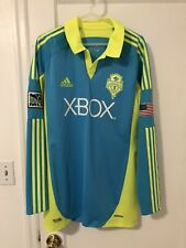 2011 2012 Seattle Sounders Soccer Jersey Long Sleeve Third Adidas MLS USA Large
