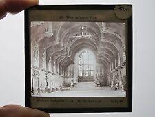 c.1890 WESTMINSTER HALL LONDON MAGIC LANTERN SLIDE G.W.WILSON