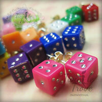 Cute Retro Game Dice Stud Earrings. Kitsch Party Bag Stocking Fillers