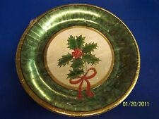 """Classic Holly Christmas Holiday Party 12"""" Banquet Plate"""
