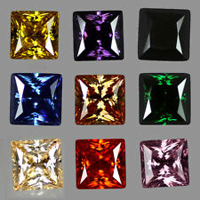 6A Extra Faceted Princess Cut Cubic Zirconia - Colour & Size Choice