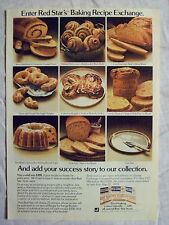 1978 Magazine Advertisement Page Red Star Dry Yeast Recipe Exchange Vintage Ad