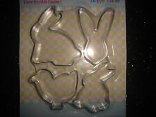 4 EASTER BUNNY CHICK COOKIE/PASTRY/BISCUIT CUTTERS NEW