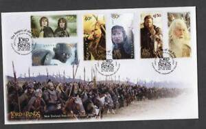 NEW ZEALAND MNH 2003 SG2652-2657 THE LORD OF THE RINGS 3RD ISSUE FDC