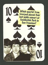 The Beatles Play Candlestick Park - Last Concert Neat Playing Card #6Y6