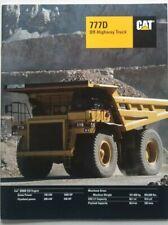 Caterpillar 777D Off-Highway Haul Truck Sales Brochure - 1996