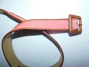"Talbot Women's coral & brown X-Small Belt 35.5"" x 1.5""  2M"