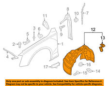 AUDI OEM 13-16 A4 Quattro-Front Fender Liner Splash Shield Right 8K0821172N