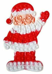 Jumbo Santa Push It Pop Bubble Sensory Fidget Toy Christmas Kids fun celbration