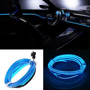 Blue LED Car Interior Decor Atmosphere Wire Strip Light Lamp Accessories 12V MK