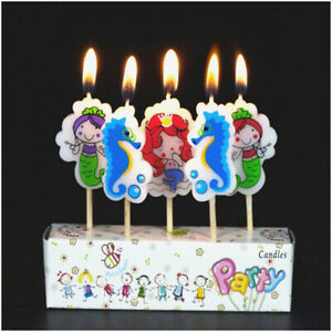 Mermaid Little Under the SEA Birthday Cake Candles Arie Topper Party Decoration