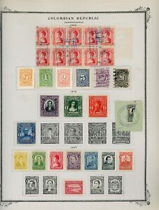 COLOMBIA Scott Specialty Album Page Lot #28 - SEE SCAN - $$$