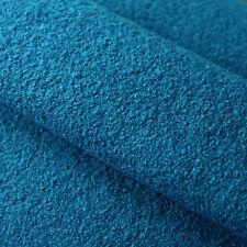 Stoff Kochwolle Strickstoff Abstrakt Design Rapport 26cm wollweiß blau türkis