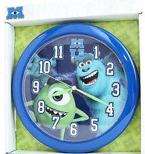 "Wall Clock 9.5"" Quartz Disney Monsters University Inc Blue NIP"