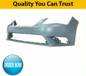 Seat Leon Front Bumper Primed No Pdc / Washer Holes 2013- Insurance Approved New