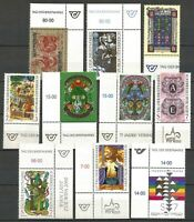 Austria 1991-2000 MNH - 10 Stamp Day Issues with Letters all marginals