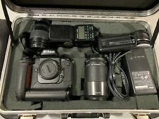 Nikon D1 Package with lenses, flash, charger and case.  Free Shipping