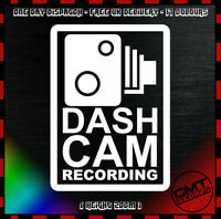 Dash Cam Recording Car Decal Bumper Sticker Security JDM Euro DUB  - 17 Colours