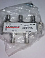 Extreme 4-Way Balanced HD Digital Coax/Coaxial Cable Splitter BDS104H